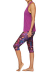 Brasilfit Australia Activewear High compression Under knee tights in a bold floral print - side view