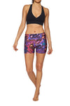 Brasilfit Australia Activewear High compression shorts in a bold floral print - front view