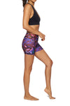 Brasilfit Australia Activewear High compression shorts in a bold floral print -side view