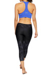 Brasilfit Australia Activewear High compression 7/8 sports tights Mirrors-black with subtle geometrical chic pattern mid calf length - back view