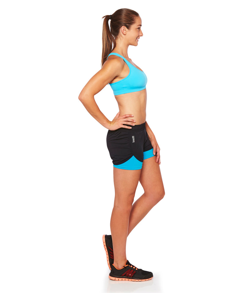 Shorts Sole 2 in 1 Black with Blue Sky Side View