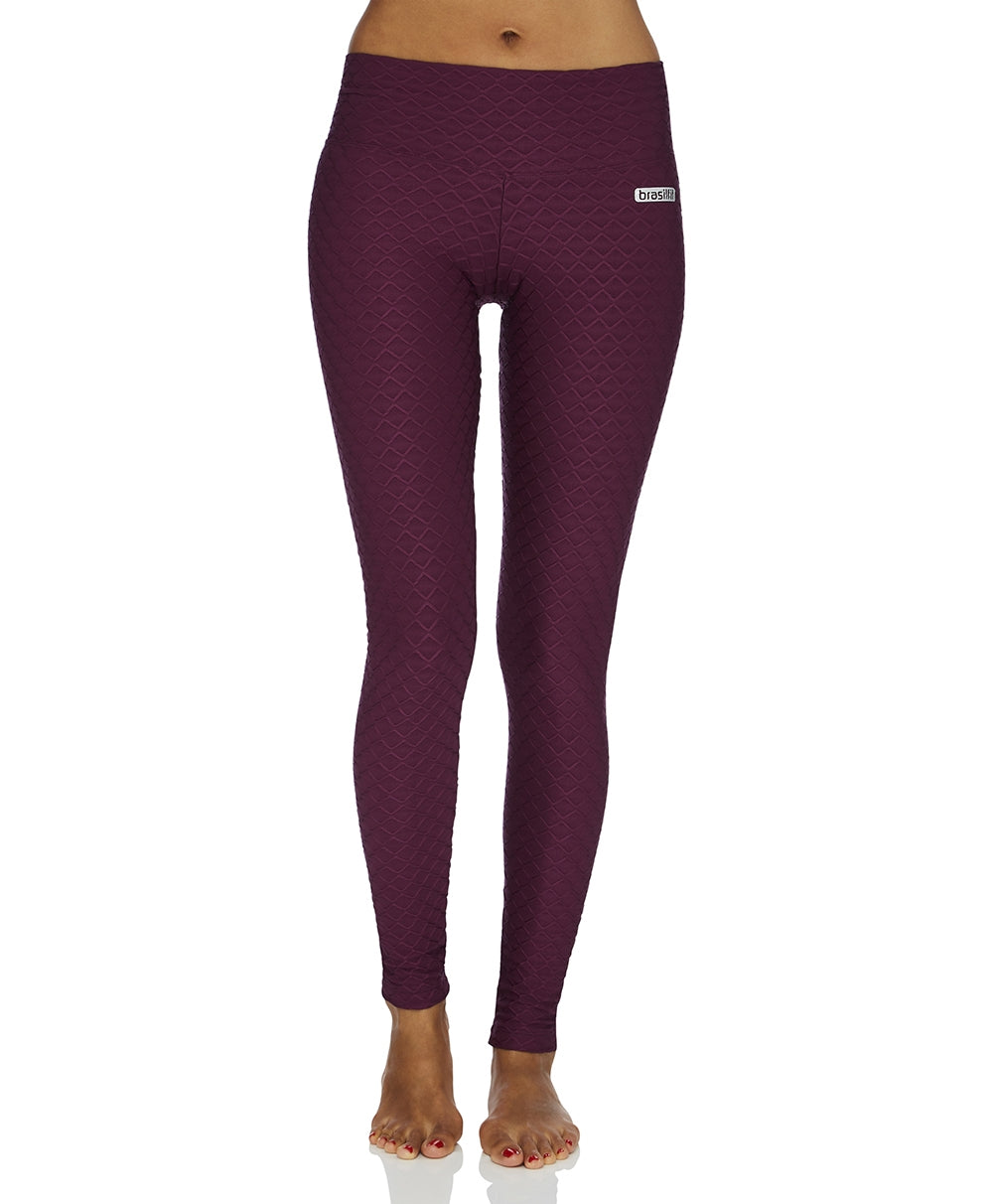 Legging Full-Length Wallpaper Plum