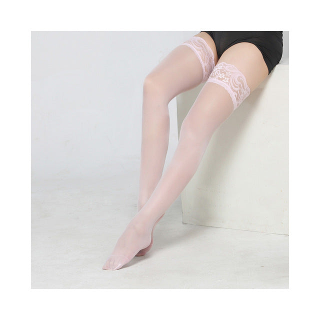 d75159792 ... 1Pair Sexy Stocking Fashion Ladies Women Lace Tighs Top Stay Up Thigh  High Stockings Pantyhose Sex