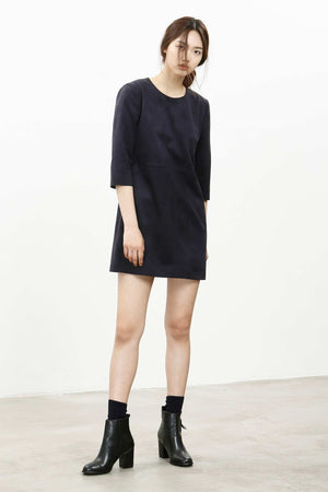 Sleek shift dress Black