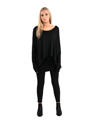 Double layer jumper Black