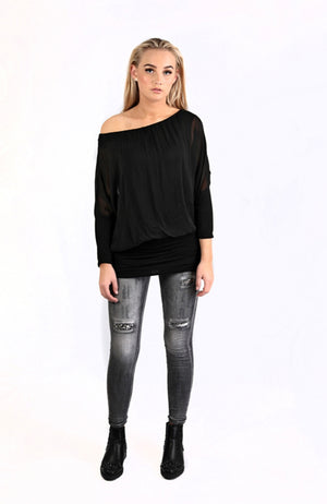Silk Top Black