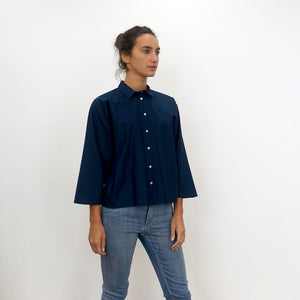 The Batwing Shirt Marine Blue