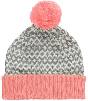 Graphic Beanie Hat Pink