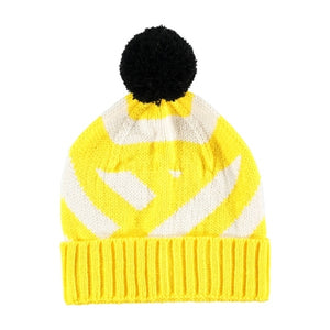 Stripe Beanie Hat Yellow