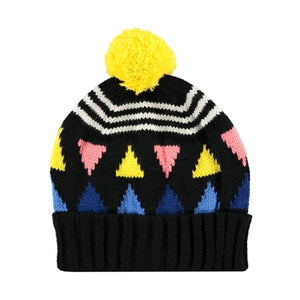 Triangle Beanie Black