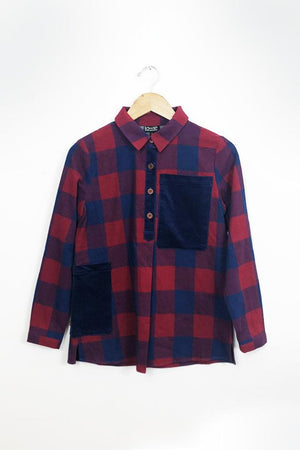 Buffalo Check Worker Shirt Red and blue check