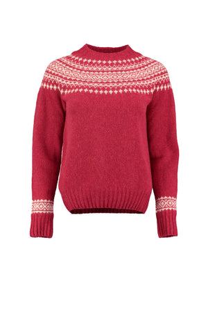 Red Lambswool Snow Jumper