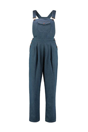 Denim High Waisted Dungarees BlueDenim