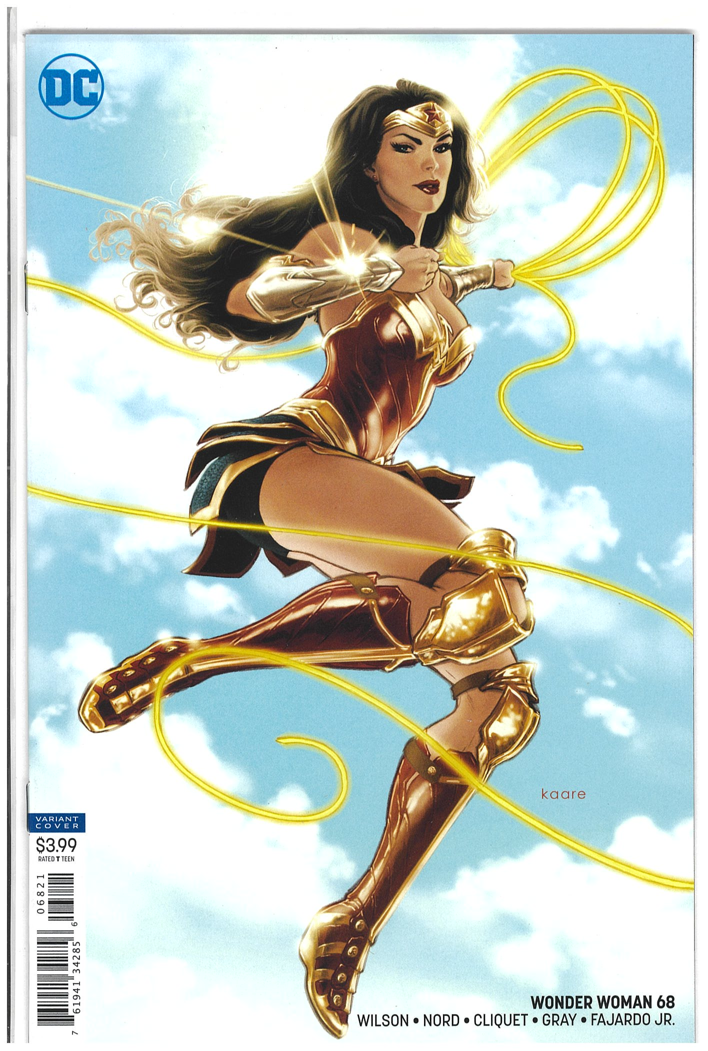 Wonder Woman #68 Kaare Andrews variant 2019