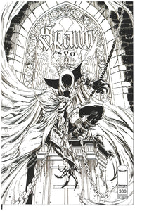 Spawn #300 cover N J. Scott Campbell B/W variant 2019