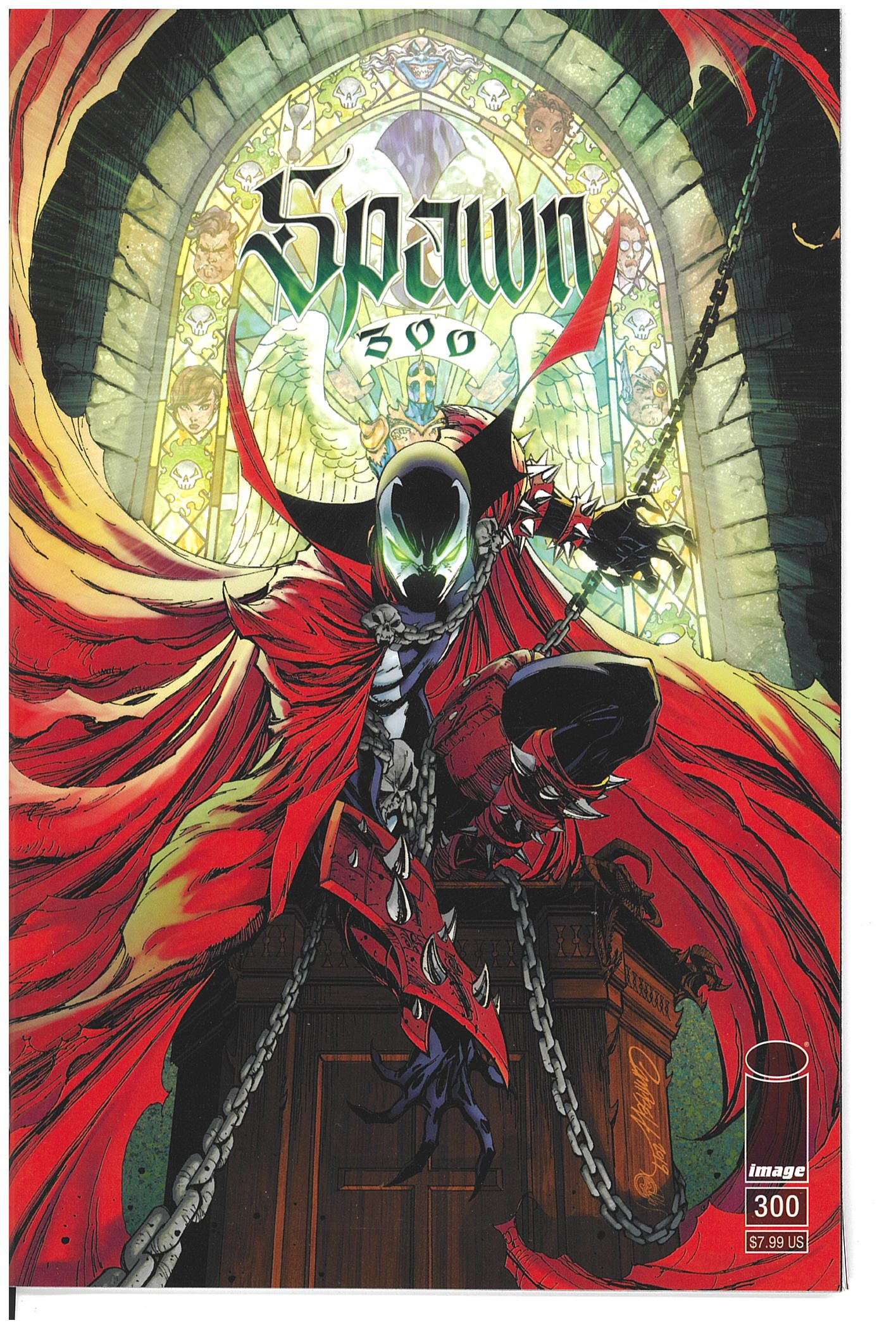 Spawn #300 cover G J. Scott Campbell variant 2019