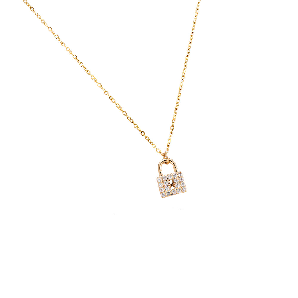 Lock Ketting - 14 K Gold plated - Kettingslot