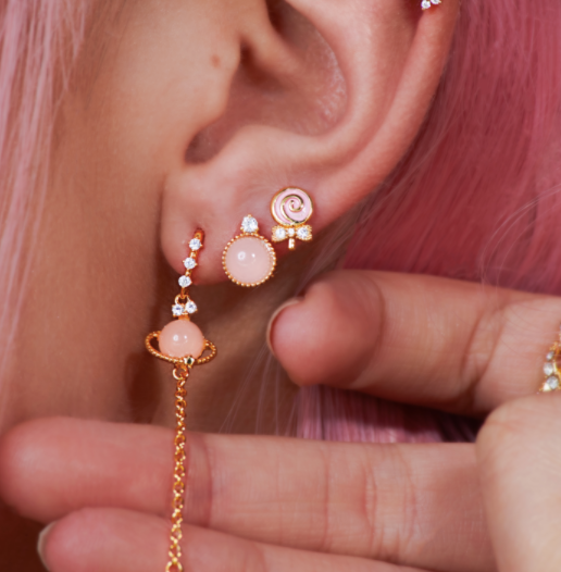 Lollipop 14K Vergulde Oorbellen