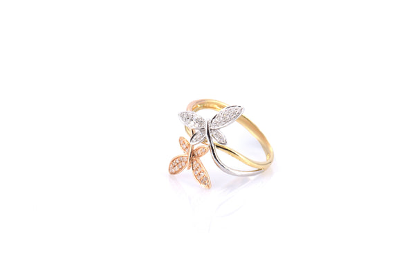 Dual Tone Butterfly Rings (RG3107)