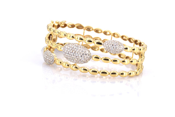 Diamond Sphere Bangle (BR3128)