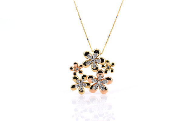 Multiple flower pendant (PND4096)