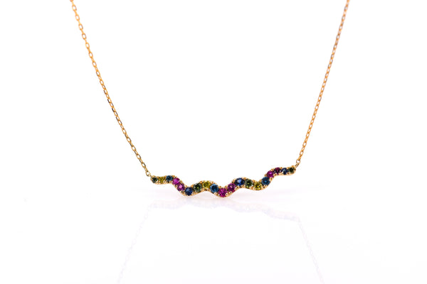 Wavy bar necklace (NK2644)