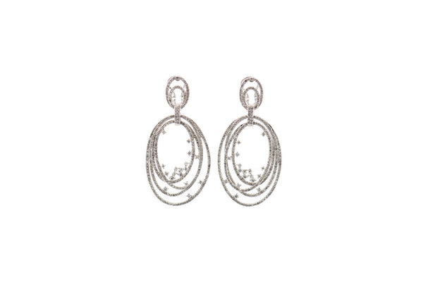 Diamond Eclipse Earrings  (ER7647)