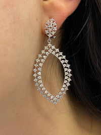 Marquise shaped diamond earring (ER8995)