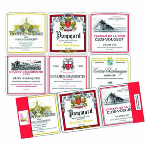 Set of 6 Wooden Coasters Bourgogne
