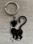 Chat papillon key ring