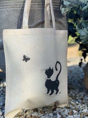 Chat Papillon - Tote bag
