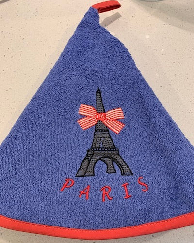 Round hand towel - Paris