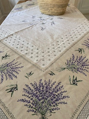 Lavender Square Table Cloth