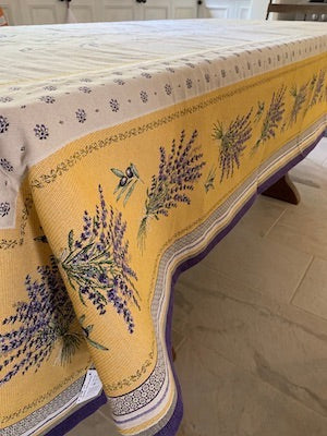 Yellow lavender Table cloth