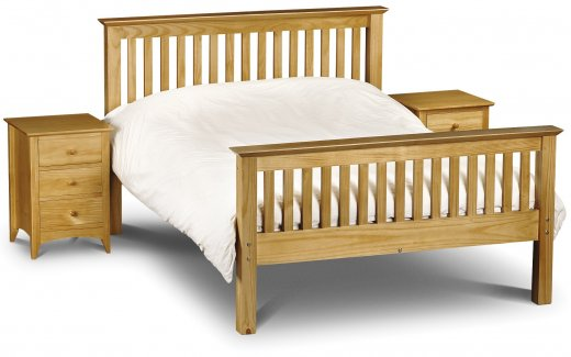 Julian Bowen Barcelona High Foot End Bed Pine  Single