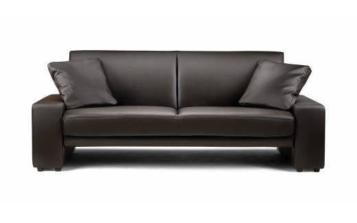 Julian Bowen Supra Sofa Bed Brown Faux Leather