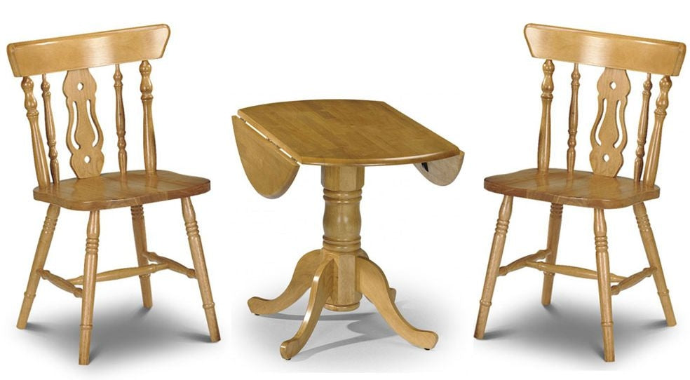 Julian Bowen Dundee Set Price (Table + 2) Yorkshire Fiddleback Chair
