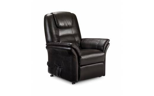 Julian Bowen Riva Rise and Recliner Chair Brown Faux Leather