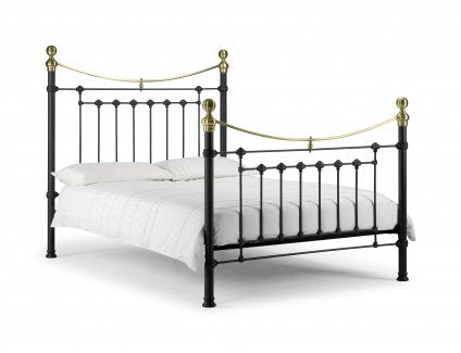 Julian Bowen Victoria Bed Satin Black Single
