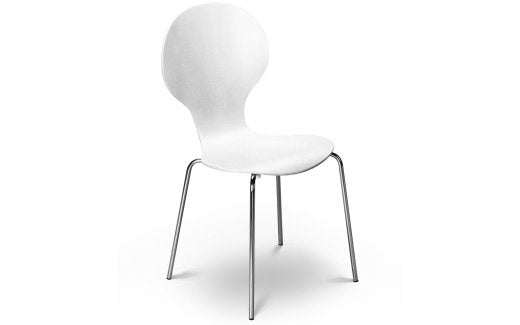 Julian Bowen Keeler Chair - White