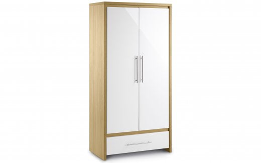 Julian Bowen Stockholm Flat Packed Combination Wardrobe
