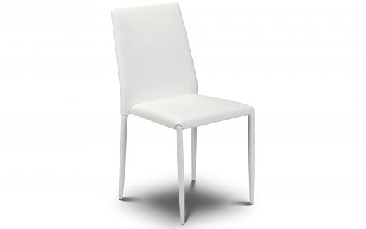 Julian Bowen Jazz Stacking Chair Faux Leather White