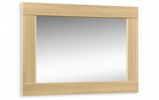 Stockton Oak Finish Wall Mirror