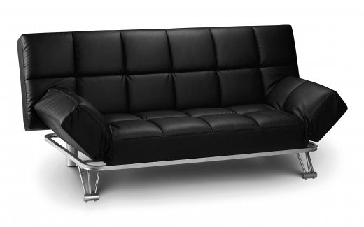 Julian Bowen Manhattan Sofa Bed Black Faux Leather