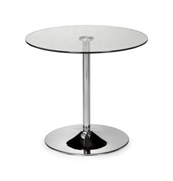 Julian Bowen Kudos Glass Pedestal Table