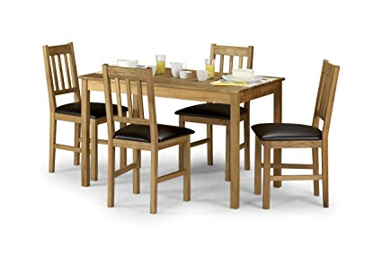 Coxley Set Price (Table + 4) Rectangle Oak Table