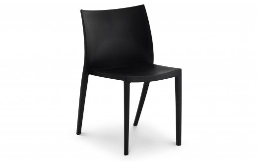Julian Bowen Fresco Indoor/Outdoor Stacking Chair - Black
