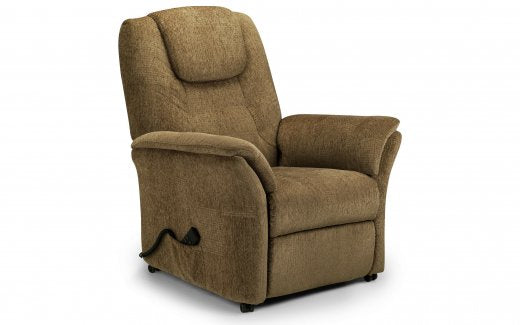 Julian Bowen Riva Rise and Recliner Chair Cappuccino Chenille Fabric