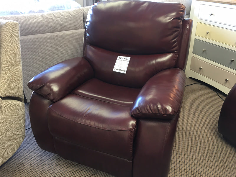 Althorpe Reclining Chair - Real Leather