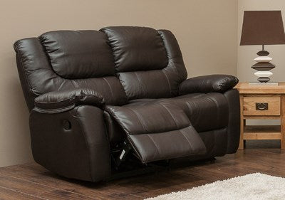 Harvey Real Leather 2 Seater Reclining Sofa